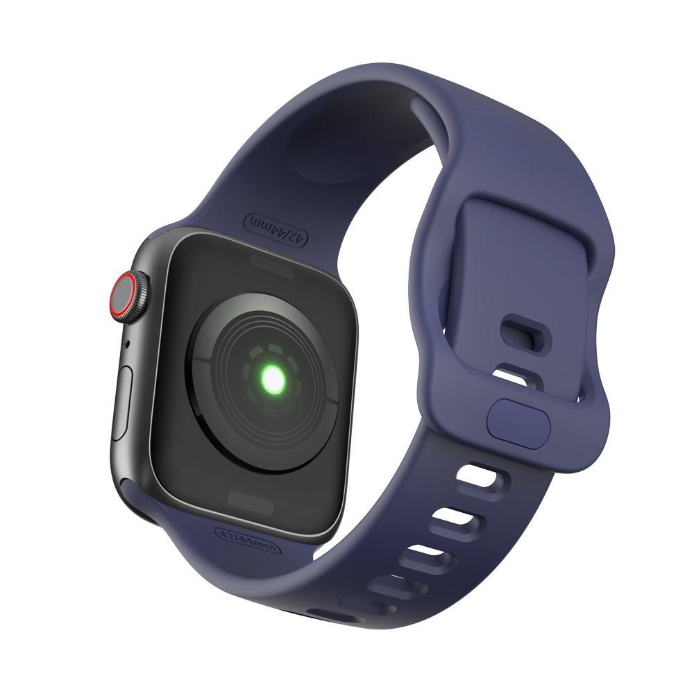Silikoniranneke Apple Watch 42/44/45 mm sininen