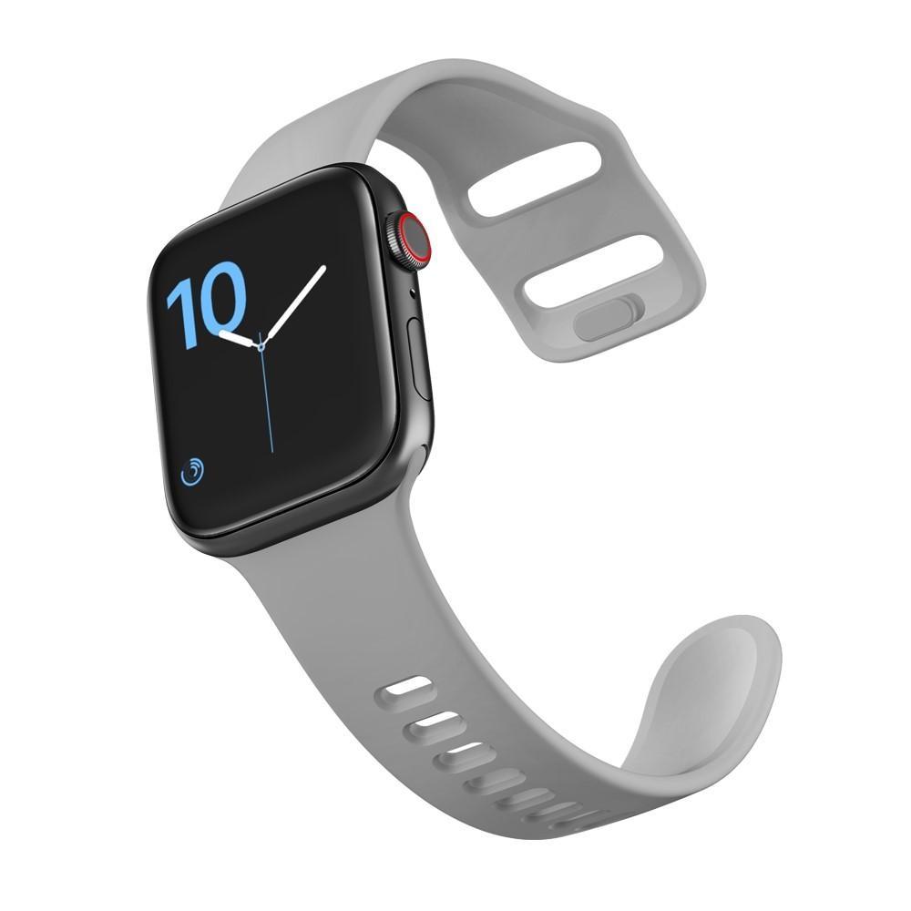 Silikoniranneke Apple Watch 42/44/45 mm harmaa