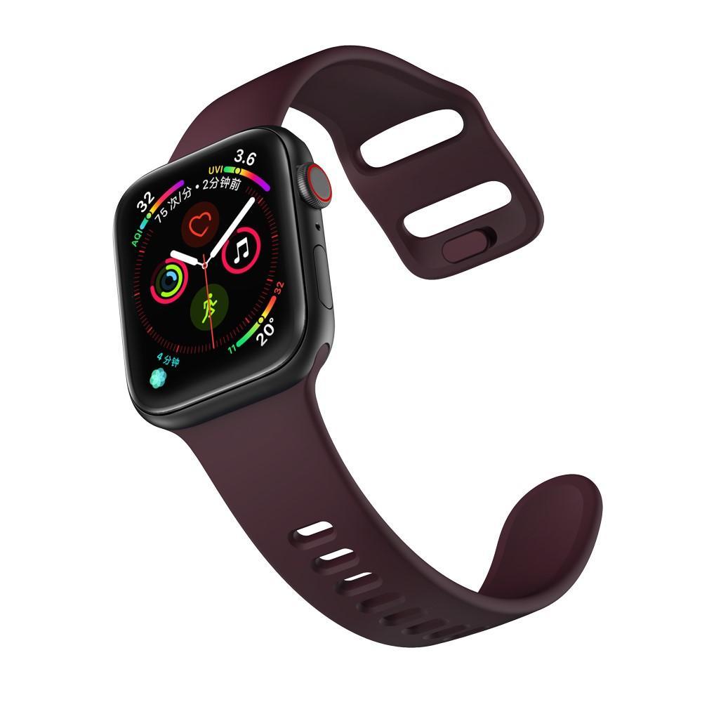 Silikoniranneke Apple Watch 42/44/45 mm liila