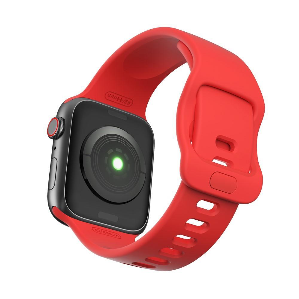 Silikoniranneke Apple Watch 42/44/45 mm punainen