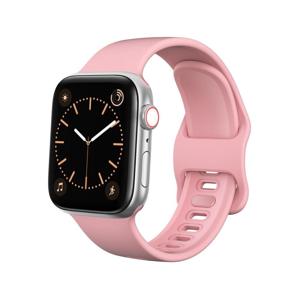 Silikoniranneke Apple Watch 42/44/45 mm vaaleanpunainen