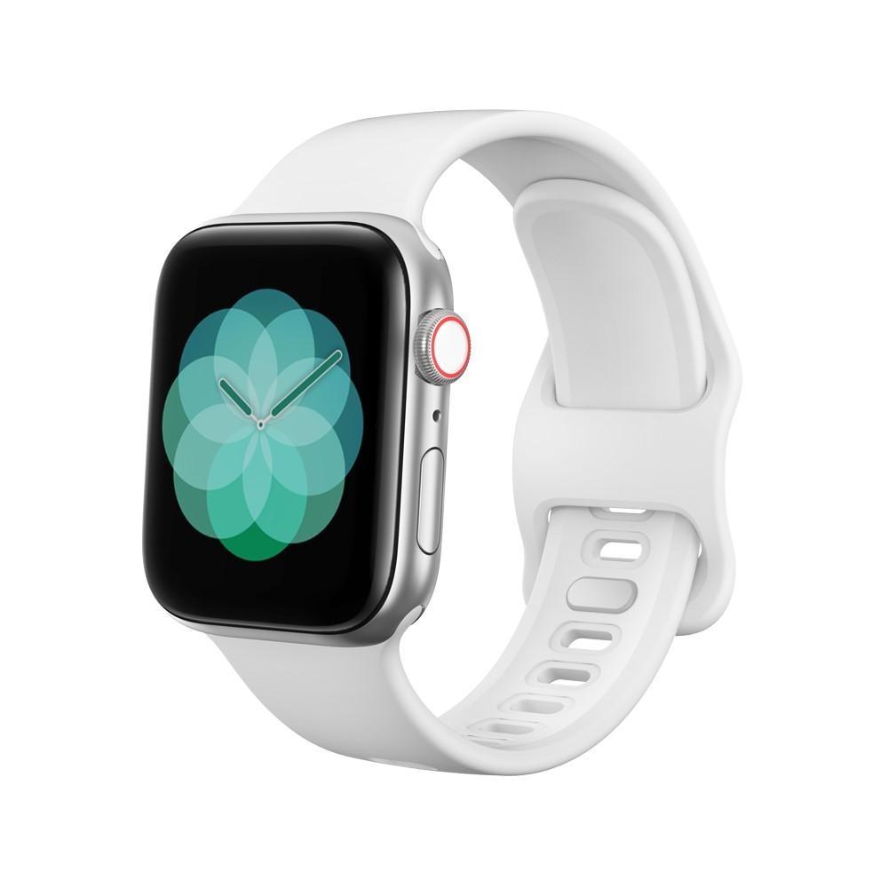 Silikoniranneke Apple Watch 42/44/45 mm valkoinen