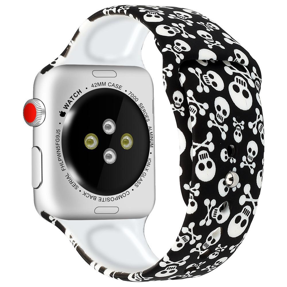 Silikoniranneke Apple Watch 42/44/45 mm kalloja