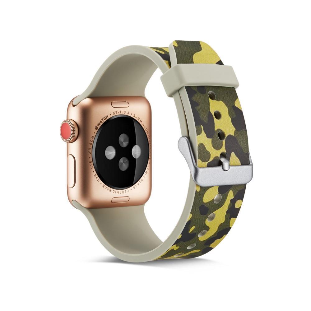 Silikoniranneke Apple Watch 42/44/45 mm maastokuvio