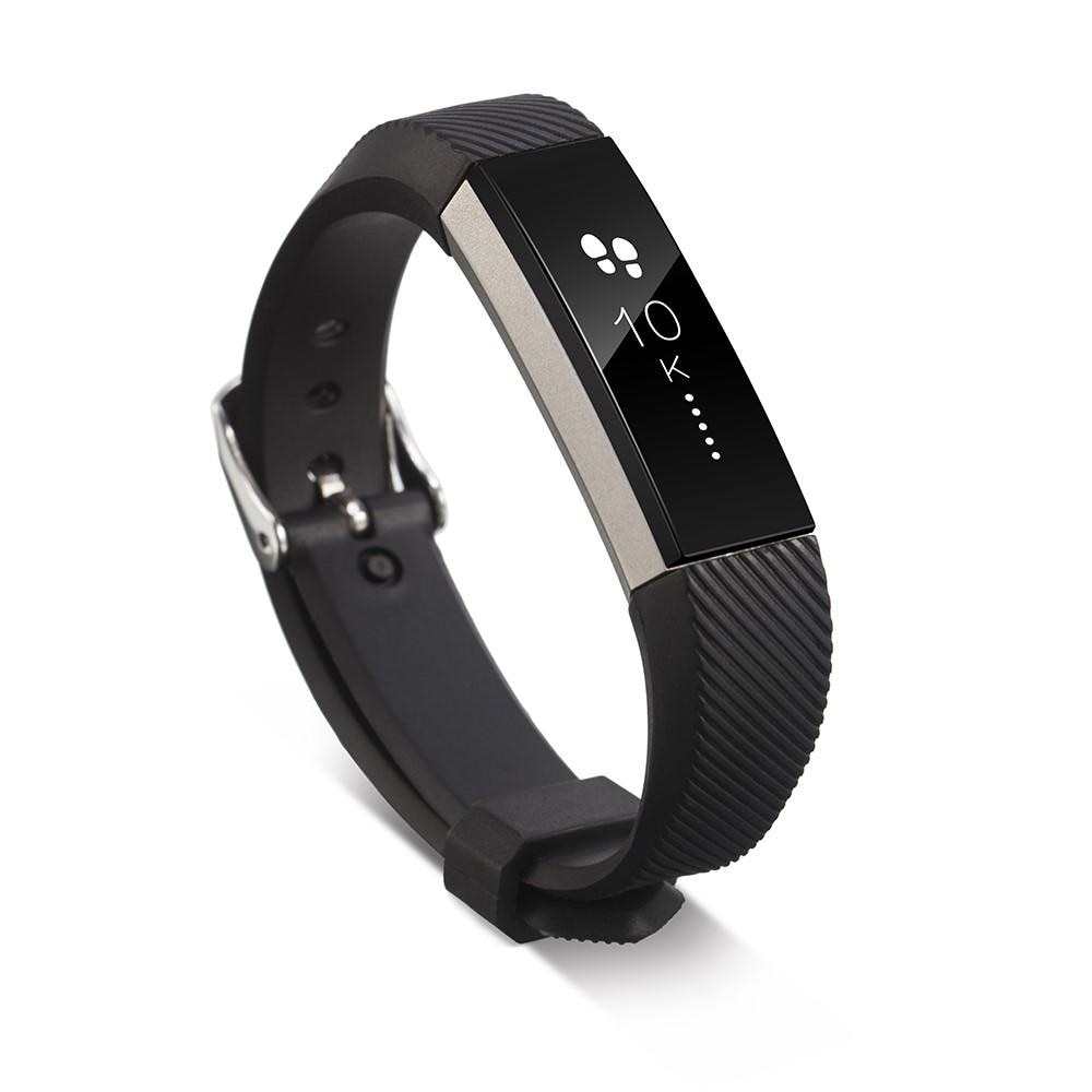Silikoniranneke Fitbit Alta/Alta HR musta