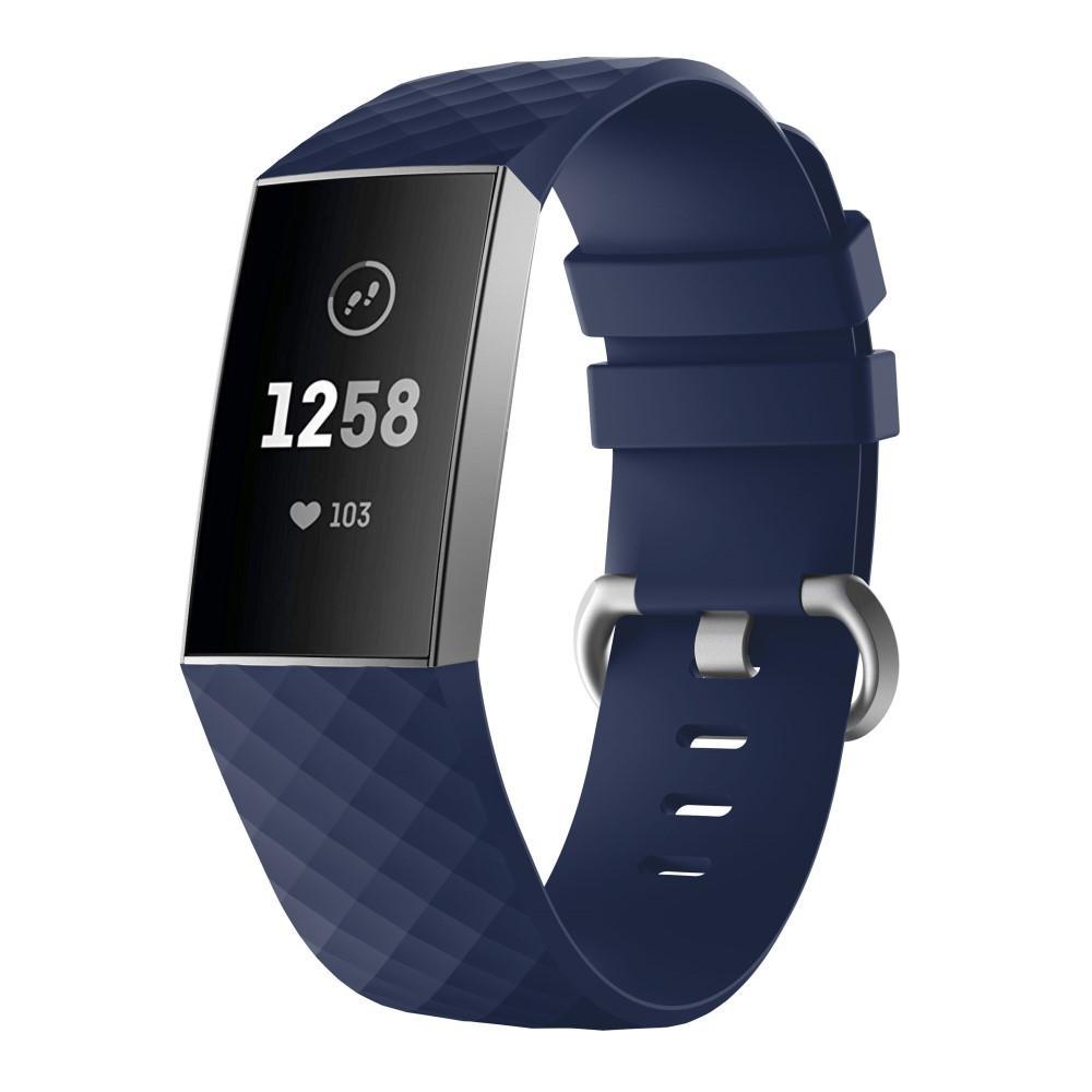 Silikoniranneke Fitbit Charge 3/4 sininen