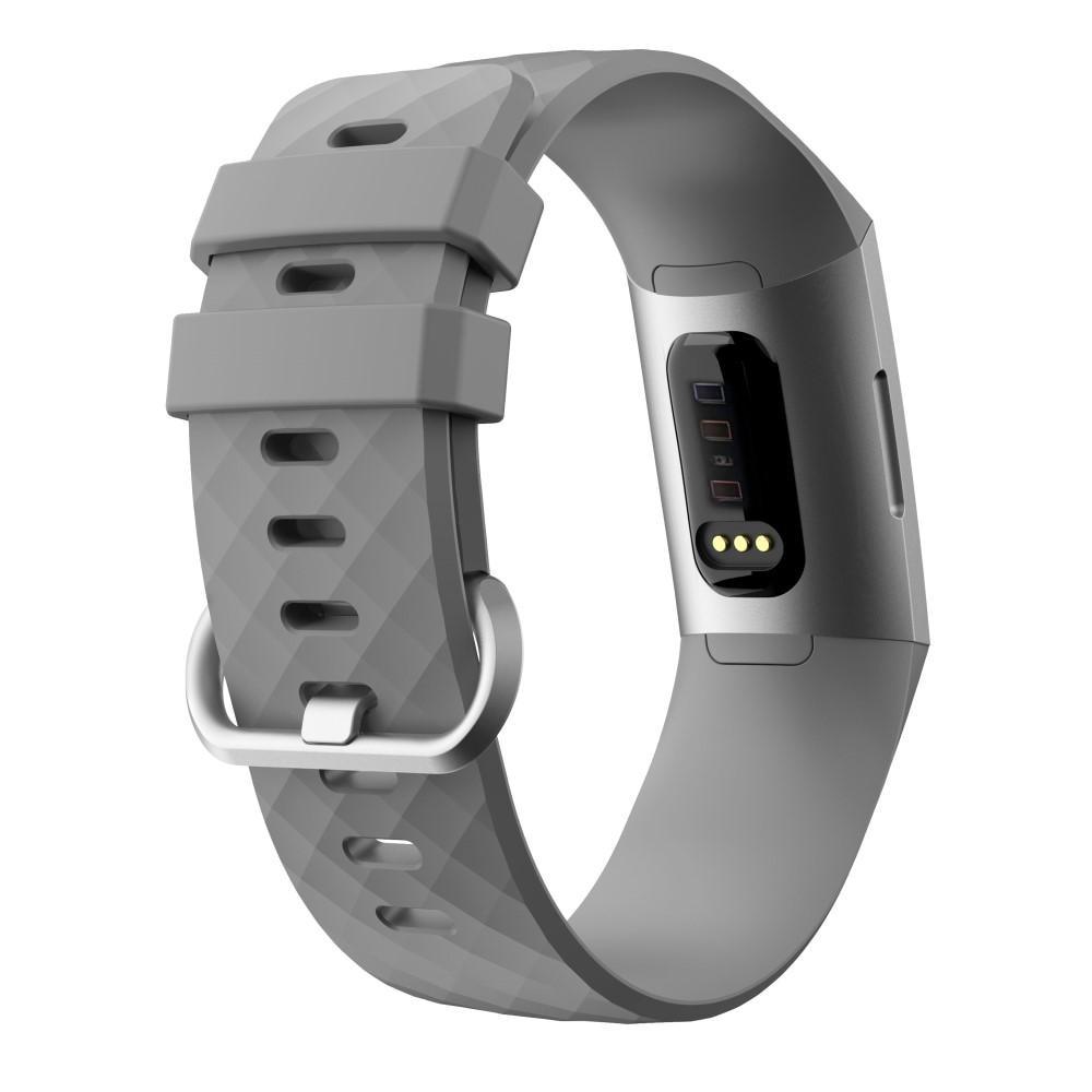Silikoniranneke Fitbit Charge 3/4 harmaa