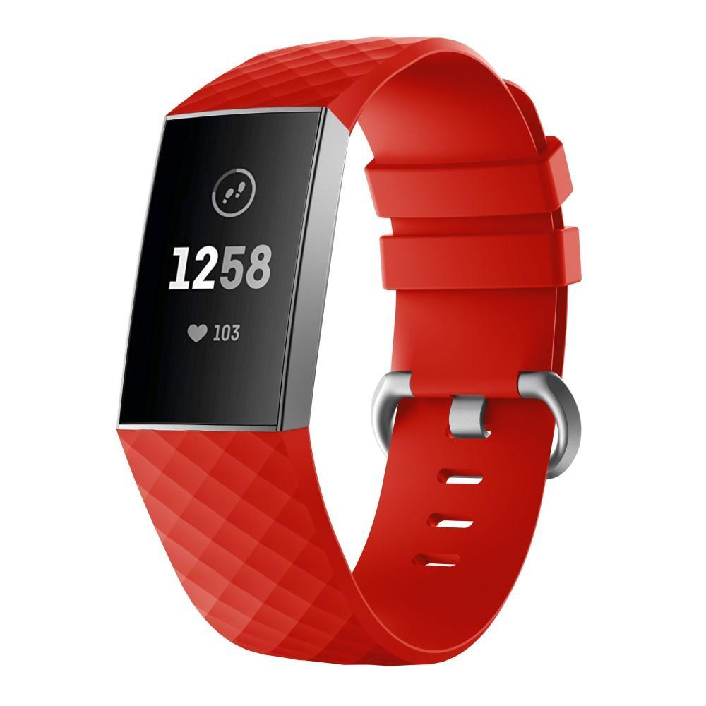 Silikoniranneke Fitbit Charge 3/4 punainen