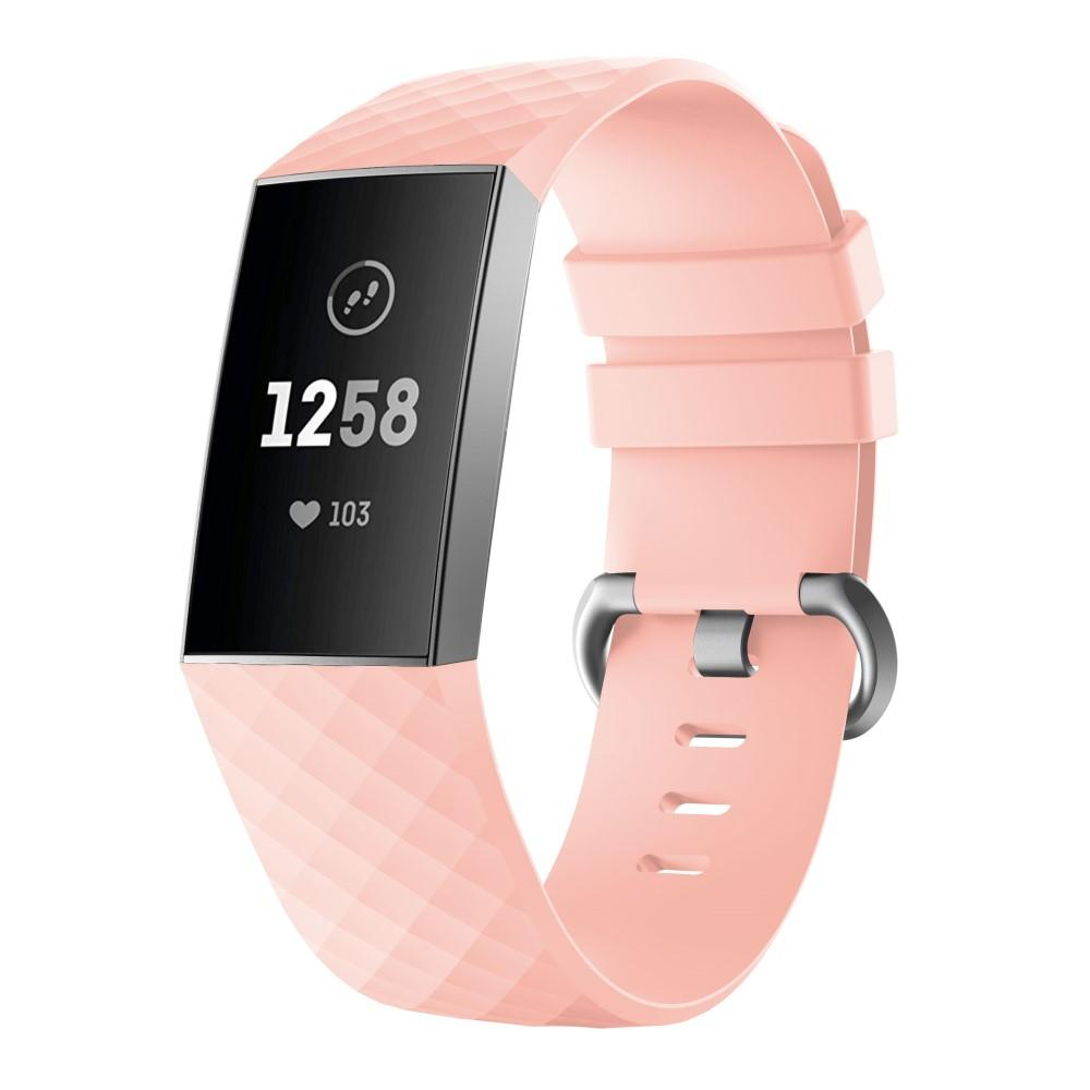 Silikoniranneke Fitbit Charge 3/4 vaaleanpunainen