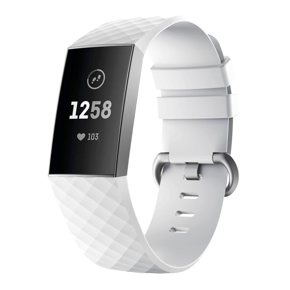 Silikoniranneke Fitbit Charge 3/4 valkoinen