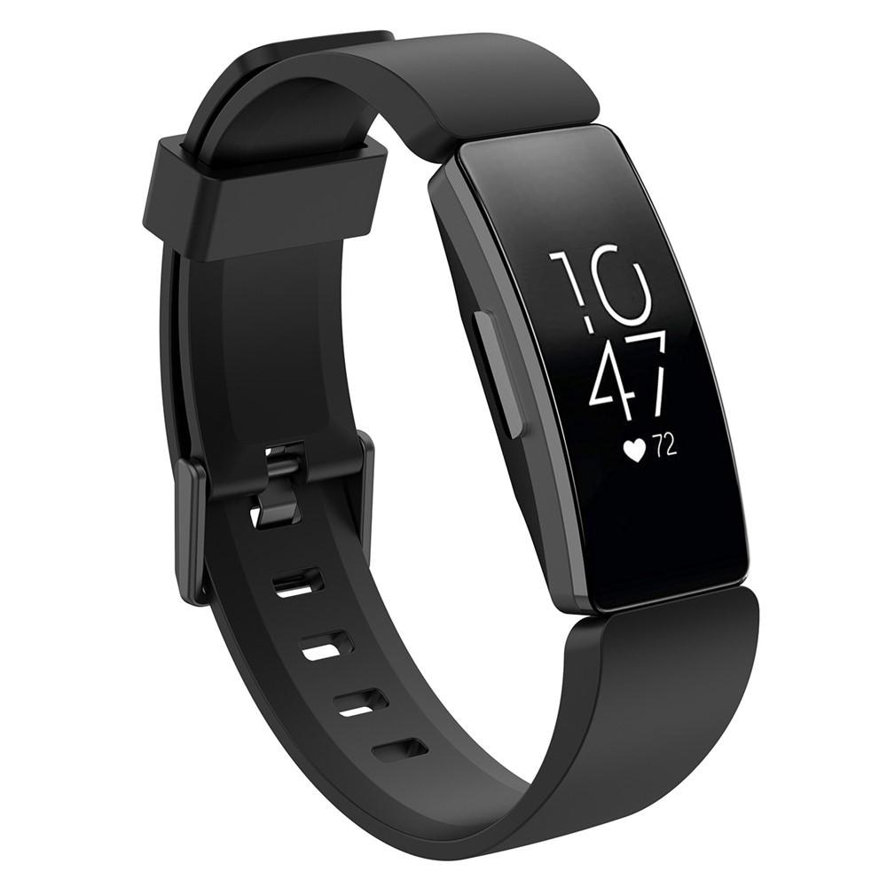Silikoniranneke Fitbit Inspire/Inspire HR/Inspire 2 musta