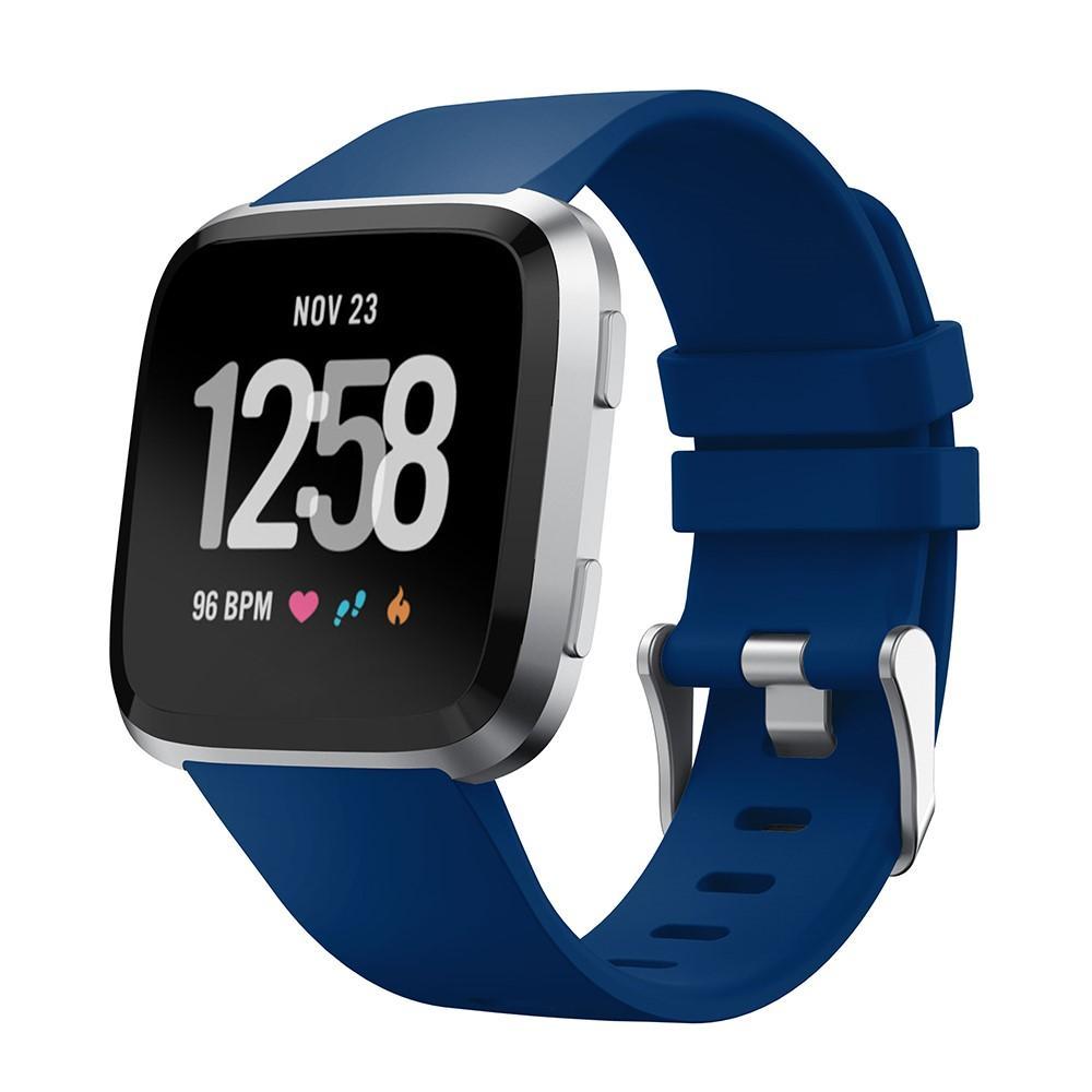 Silikoniranneke Fitbit Versa/Versa 2 sininen