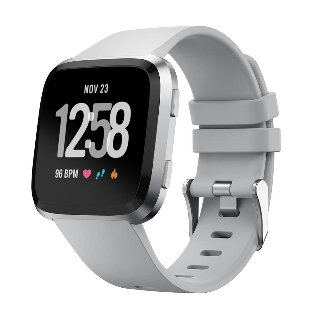 Silikoniranneke Fitbit Versa/Versa 2 harmaa