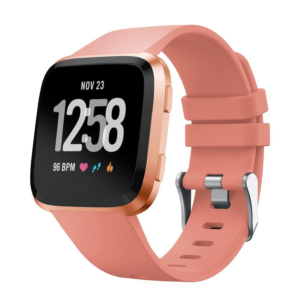 Silikoniranneke Fitbit Versa/Versa 2 vaaleanpunainen
