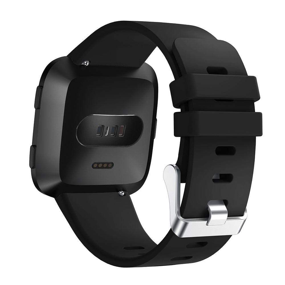 Silikoniranneke Fitbit Versa/Versa 2 musta