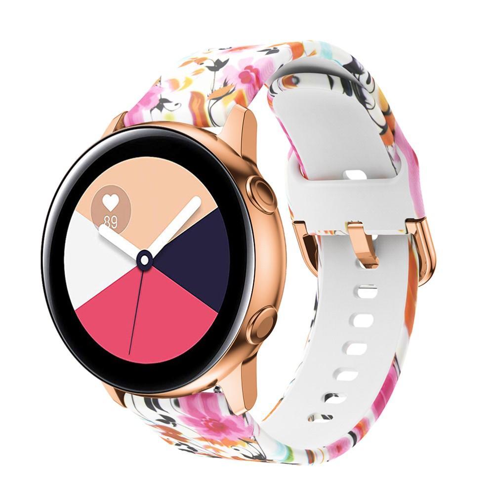 Silikoniranneke Galaxy Watch 42mm/Active kukat