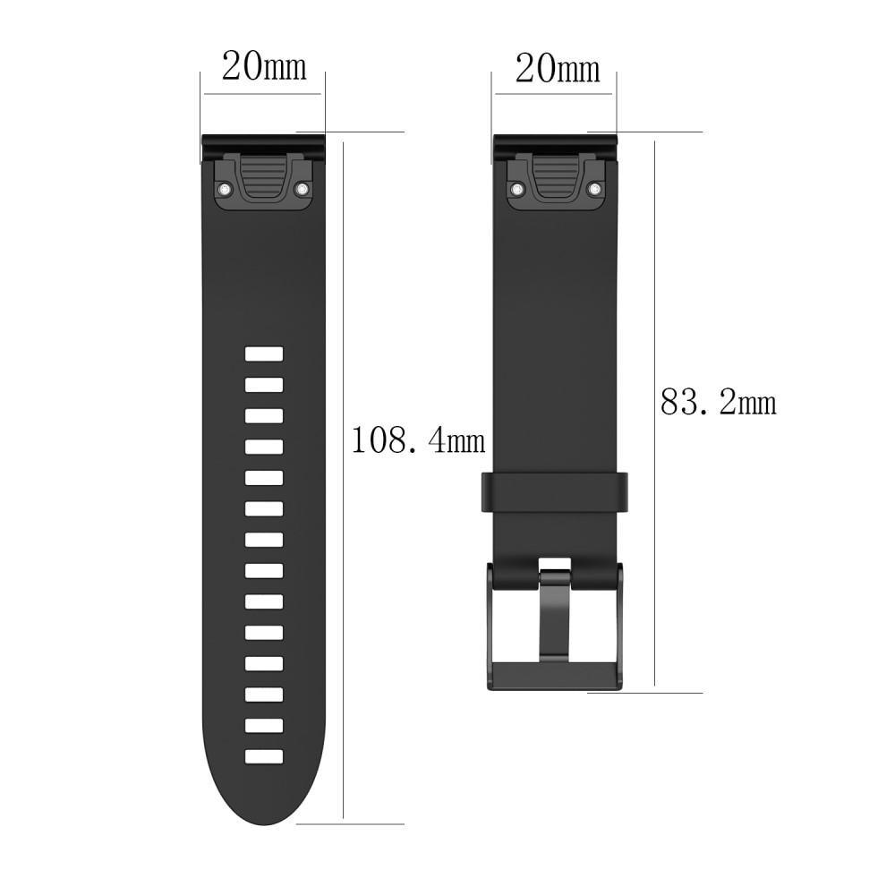 Silikoniranneke Garmin Fenix 5S/5S Plus musta
