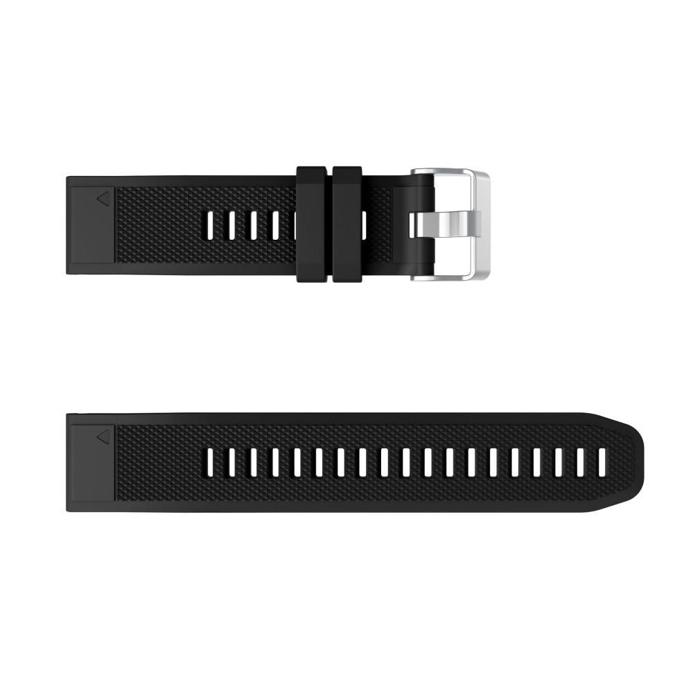 Silikoniranneke Garmin Fenix 6/6 Pro musta