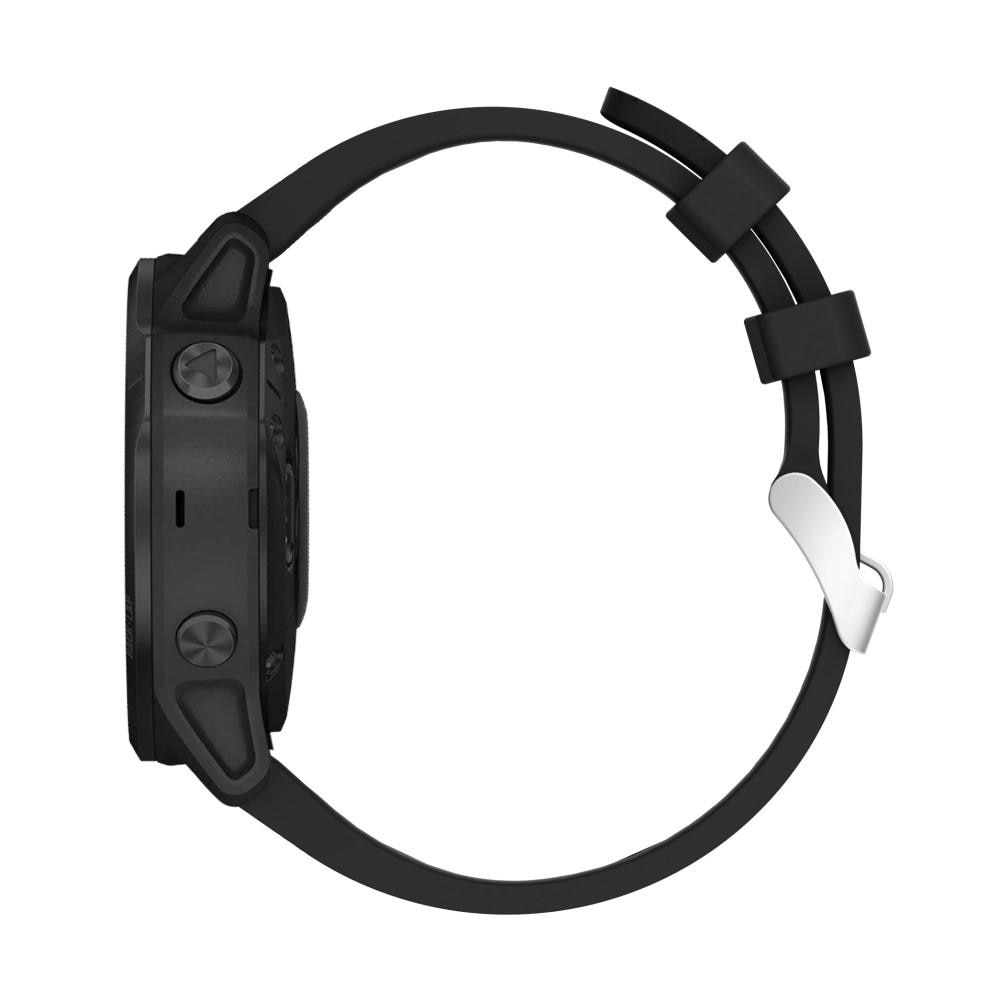 Silikoniranneke Garmin Fenix 6S/6S Pro musta