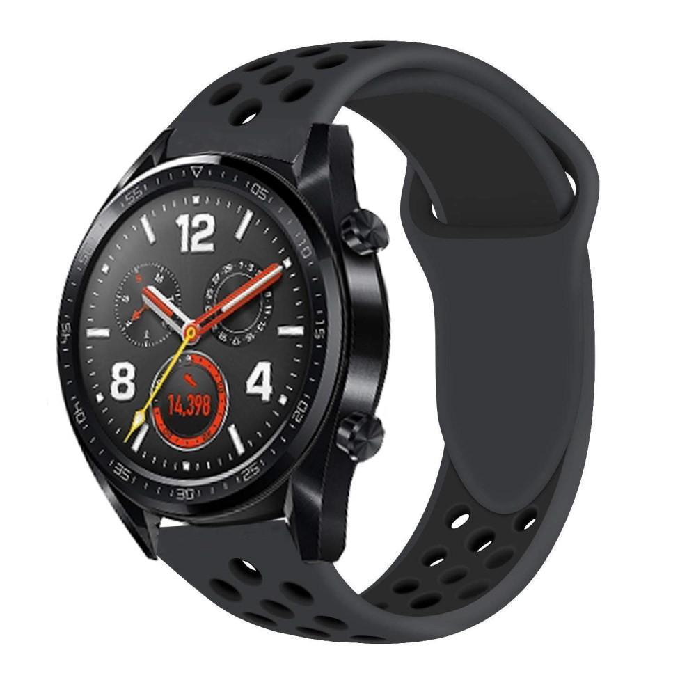 Silikoniranneke Huawei Watch GT/GT 2 46mm/GT 2 Pro musta