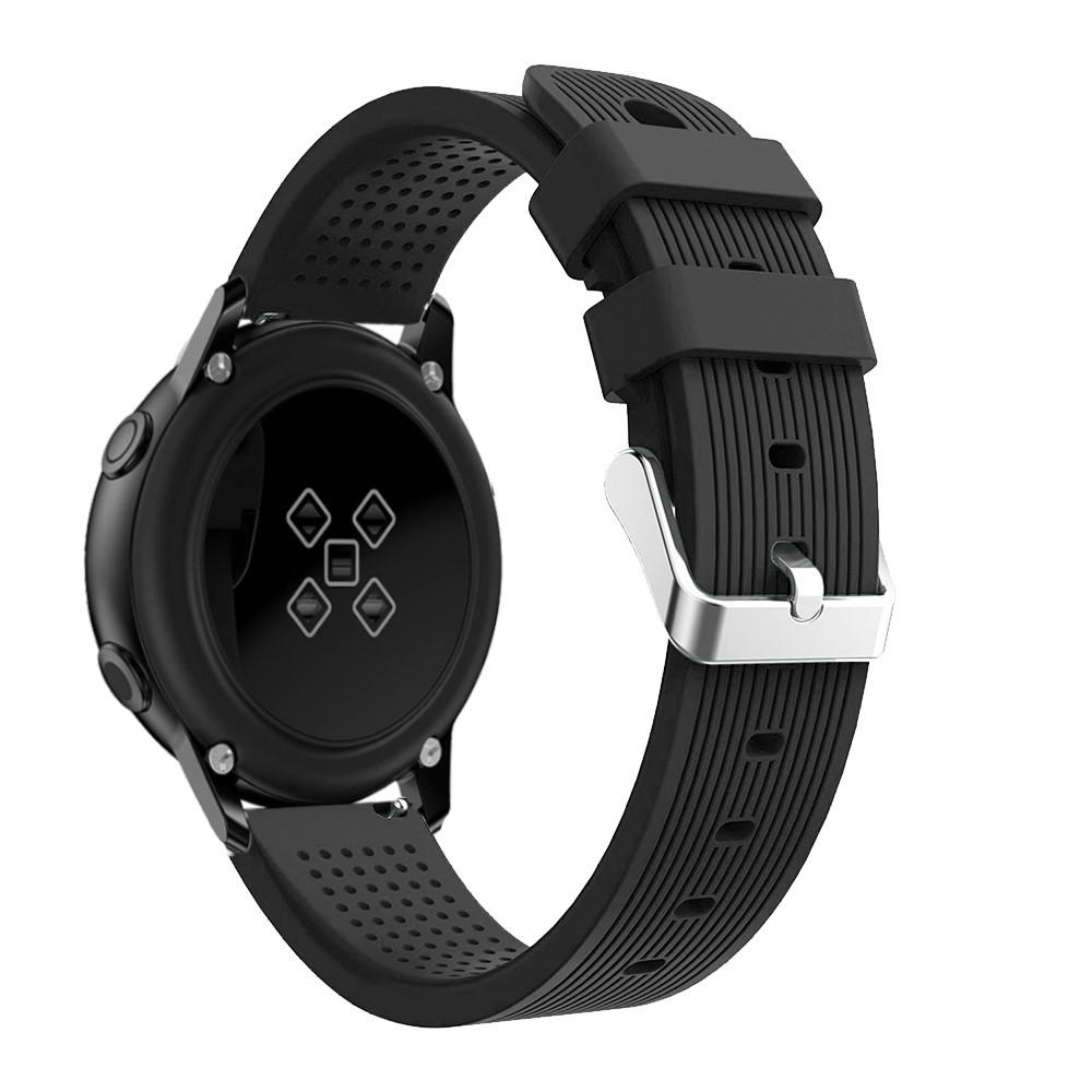 Silikoniranneke Samsung Galaxy Watch Active musta
