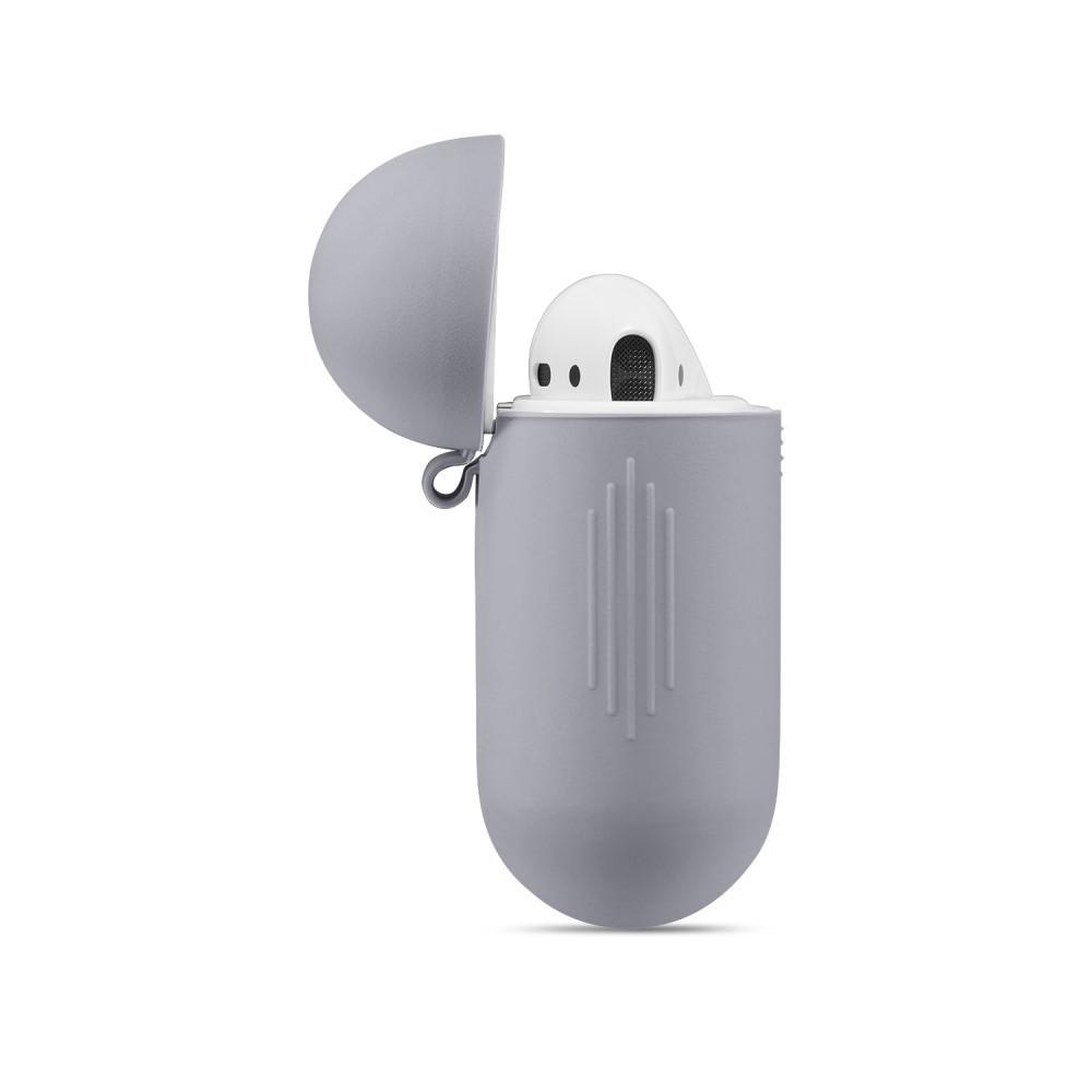 Silikonikotelo Apple AirPods harmaa