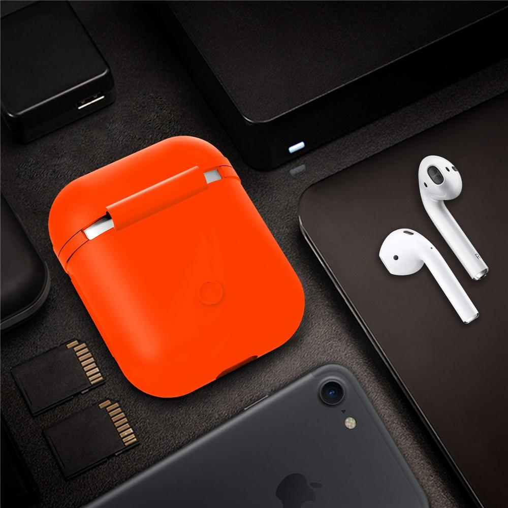 Silikonikotelo Apple AirPods oranssi