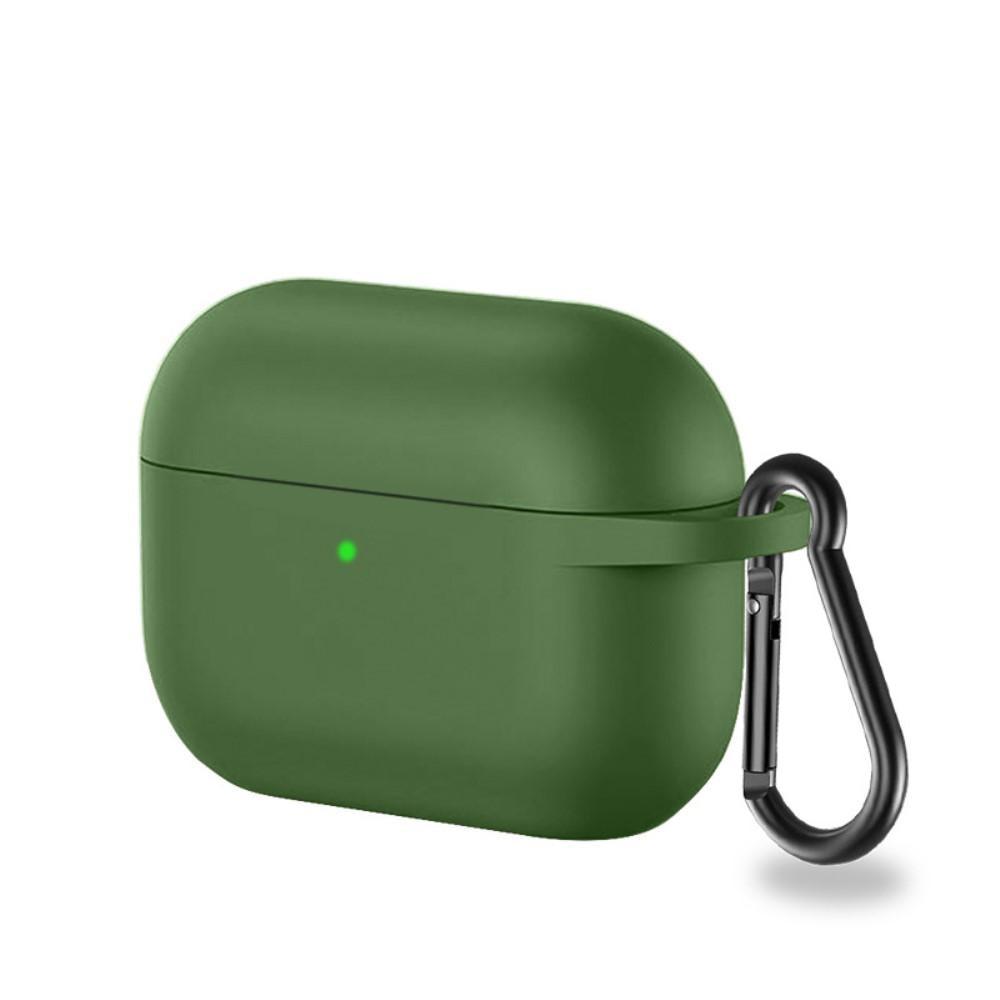 Silikonikotelo karabiinilla Apple AirPods Pro vihreä