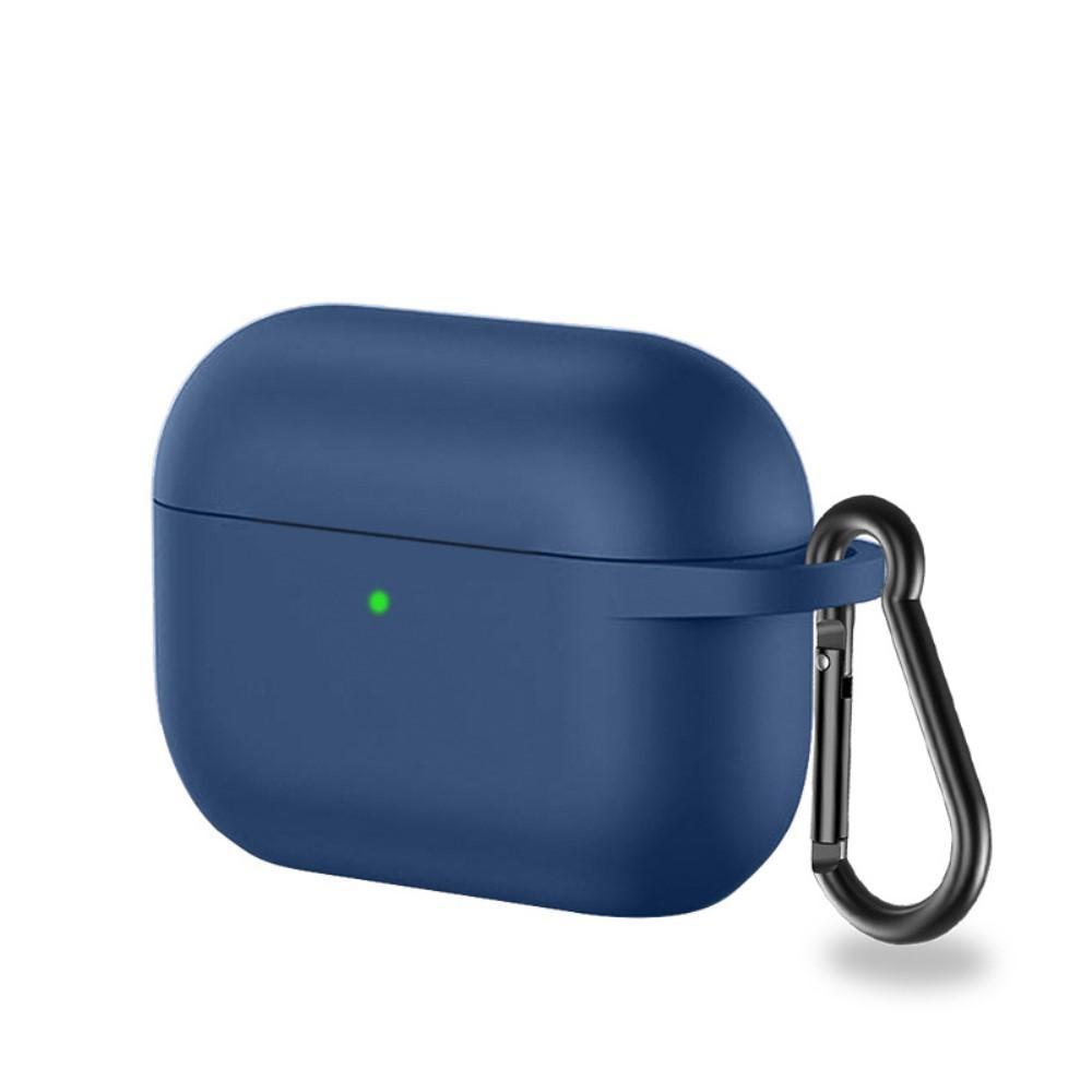Silikonikotelo karabiinilla Apple AirPods Pro sininen
