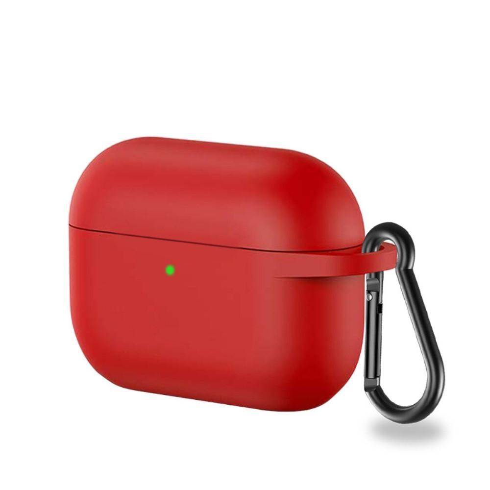 Silikonikotelo karabiinilla Apple AirPods Pro punainen