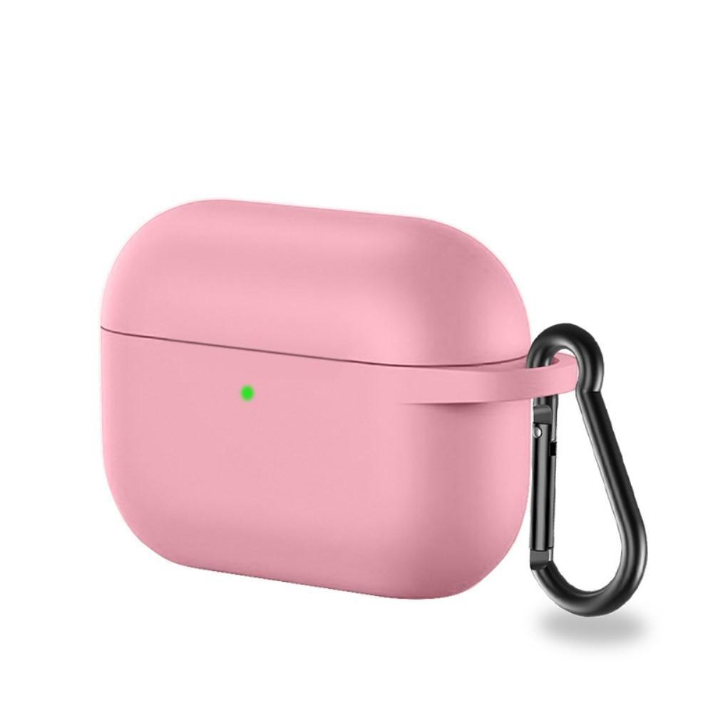 Silikonikotelo karabiinilla Apple AirPods Pro vaaleanpunainen