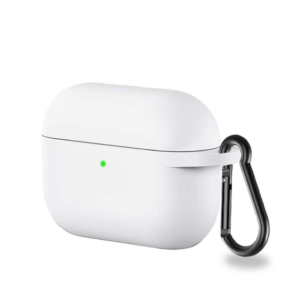 Silikonikotelo karabiinilla Apple AirPods Pro valkoinen