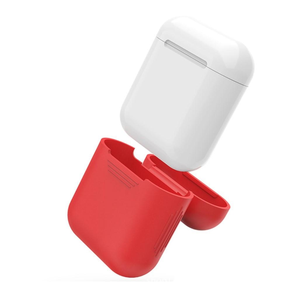 Silikonikotelo Apple AirPods punainen