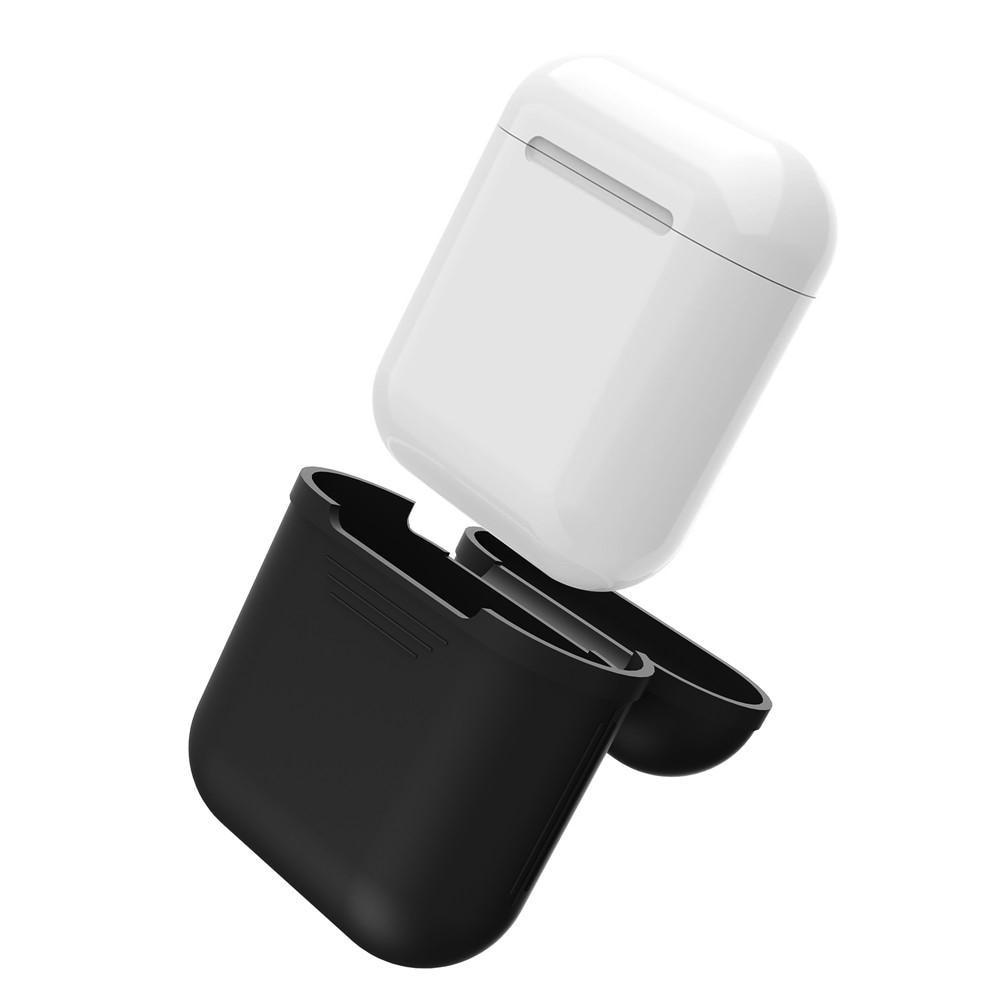 Silikonikotelo Apple AirPods musta