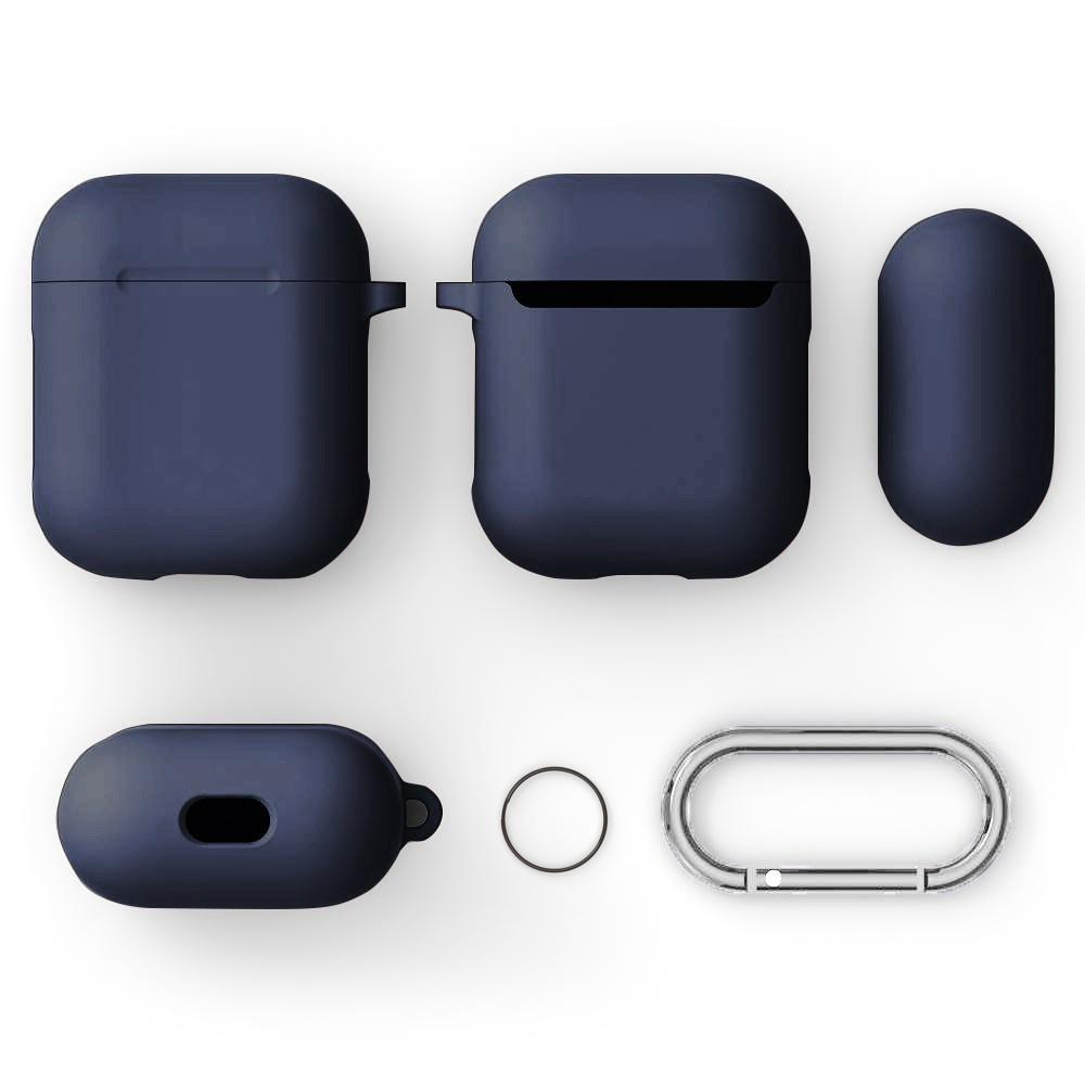 Silikonikotelo karabiinilla Apple AirPods sininen