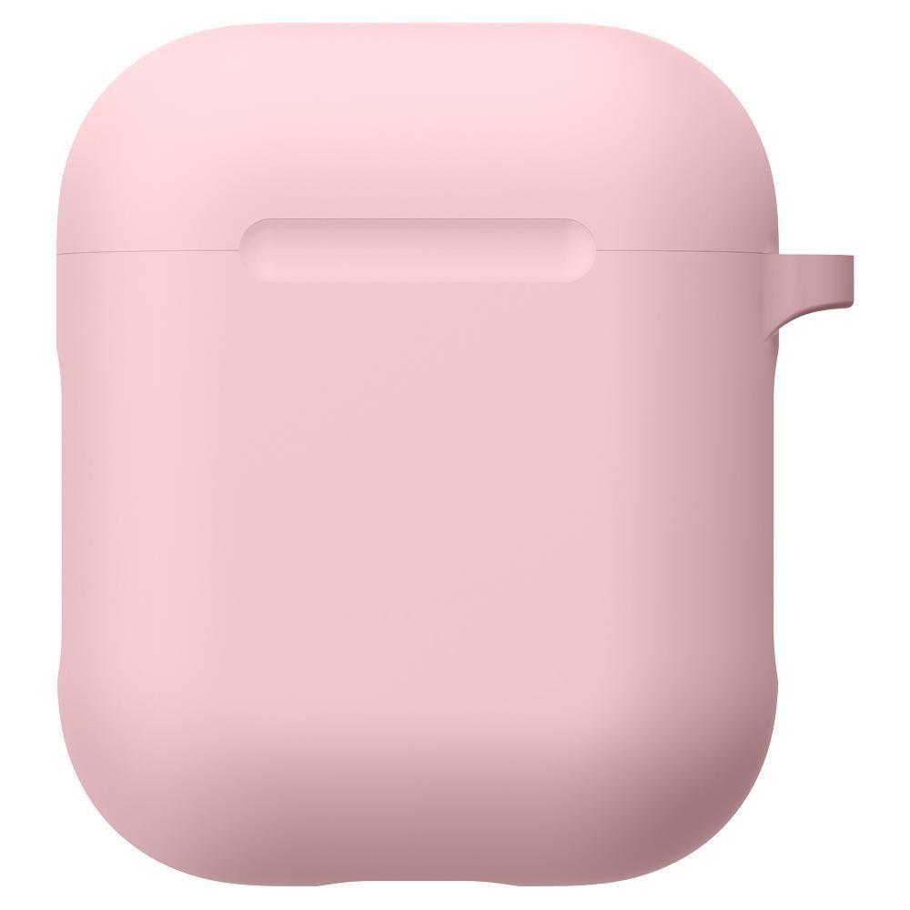 Silikonikotelo karabiinilla Apple AirPods vaaleanpunainen