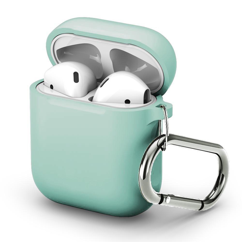 Silikonikotelo karabiinilla Apple AirPods turkoosi
