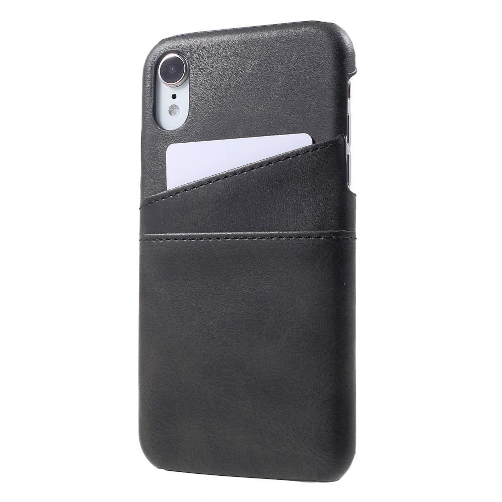 Card Slots Case Apple iPhone XR musta