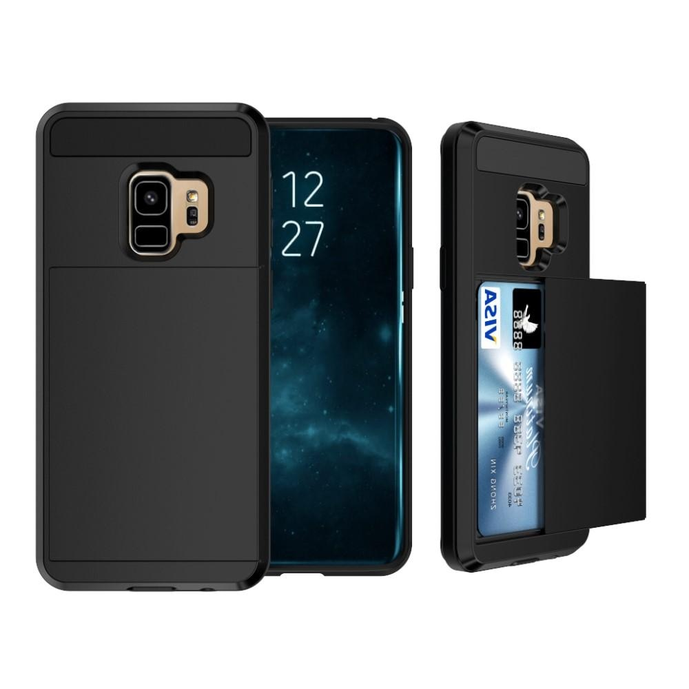 Case Cardslot Samsung Galaxy S9 Plus musta