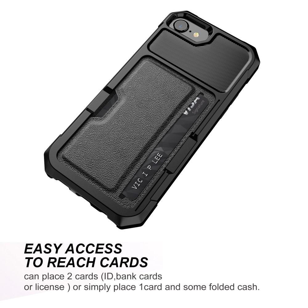 Tough Card Case iPhone 6/6S/7/8/SE 2020 musta