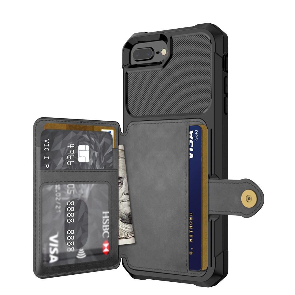 Tough Multi-slot Case iPhone 6/6S/7/8 Plus musta