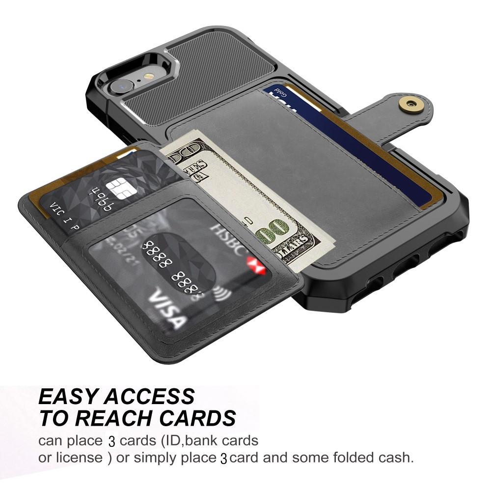 Tough Multi-slot Case iPhone 6/6S/7/8/SE 2020 musta