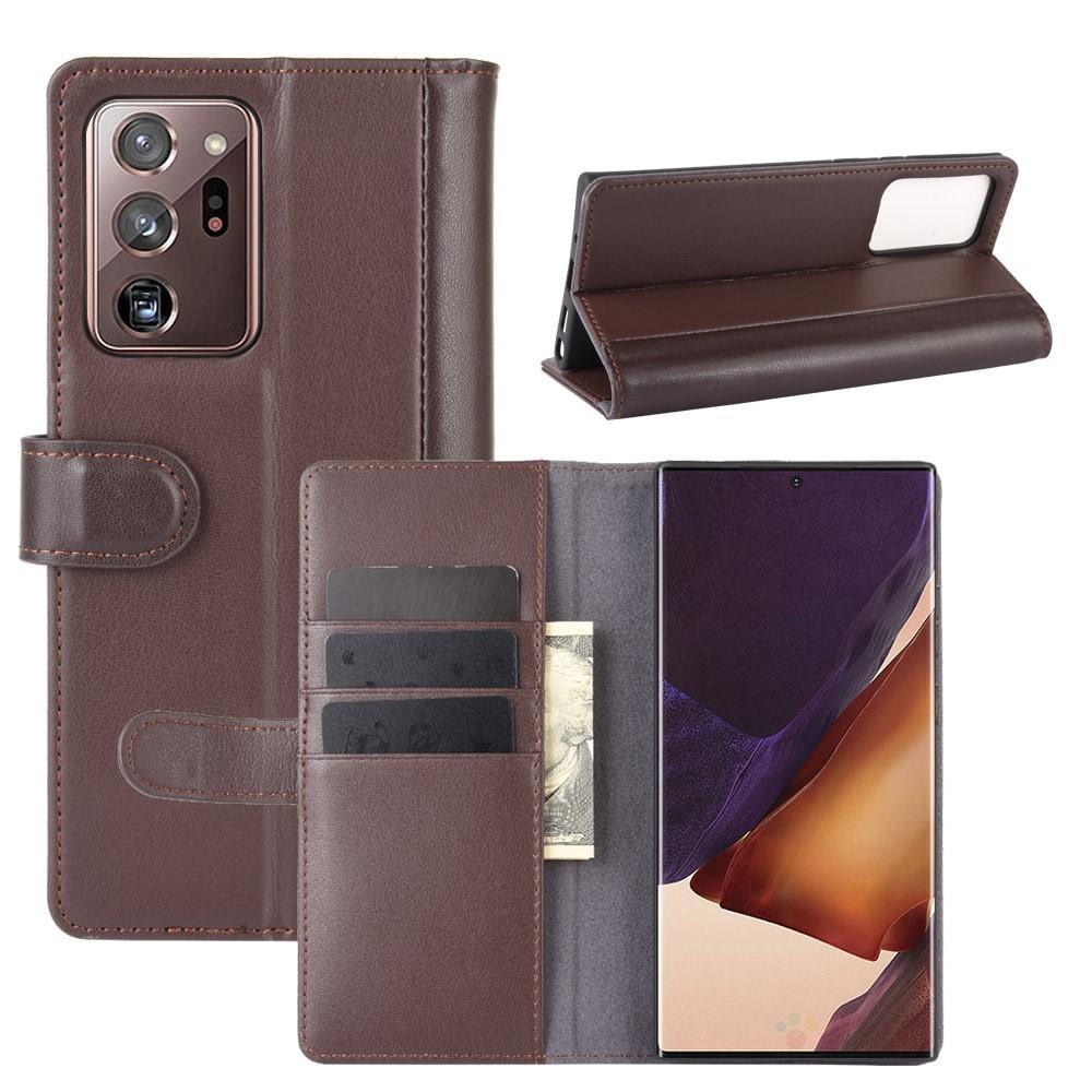 Aito Nahkakotelo Galaxy Note 20 ruskea
