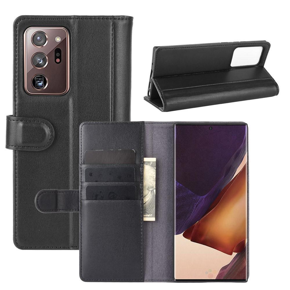 Aito Nahkakotelo Galaxy Note 20 musta