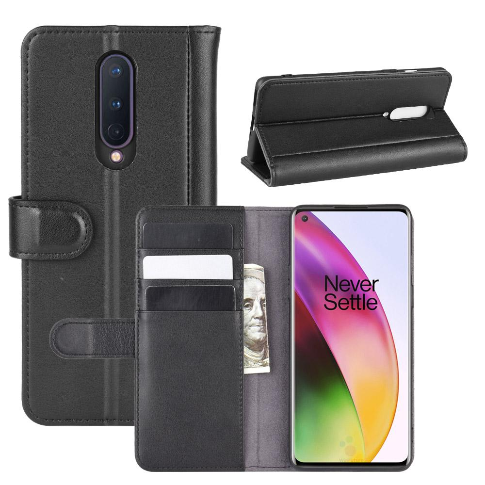 Aito Nahkakotelo OnePlus 8 musta