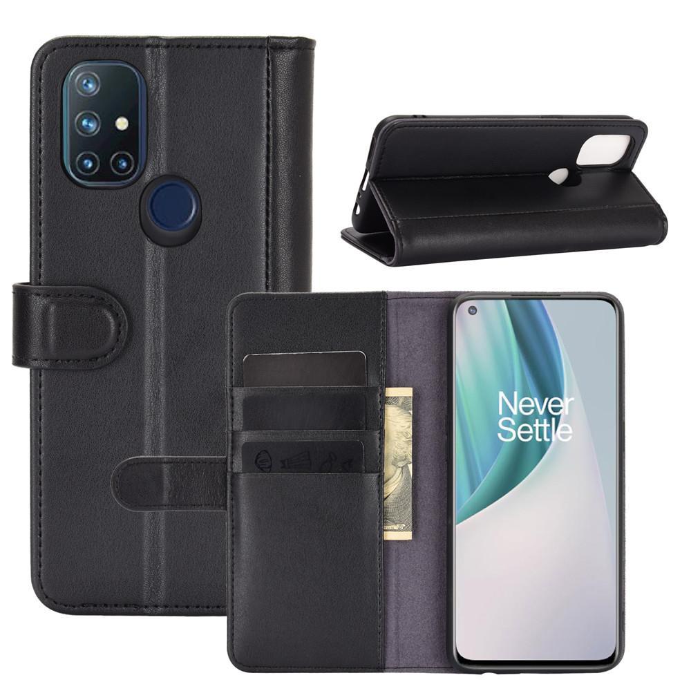 Aito Nahkakotelo OnePlus Nord N10 5G musta