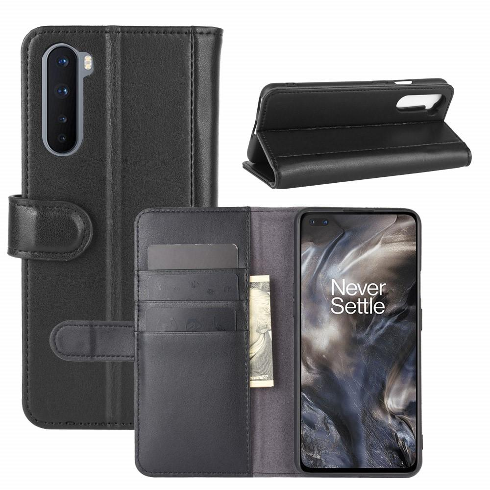 Aito Nahkakotelo OnePlus Nord musta