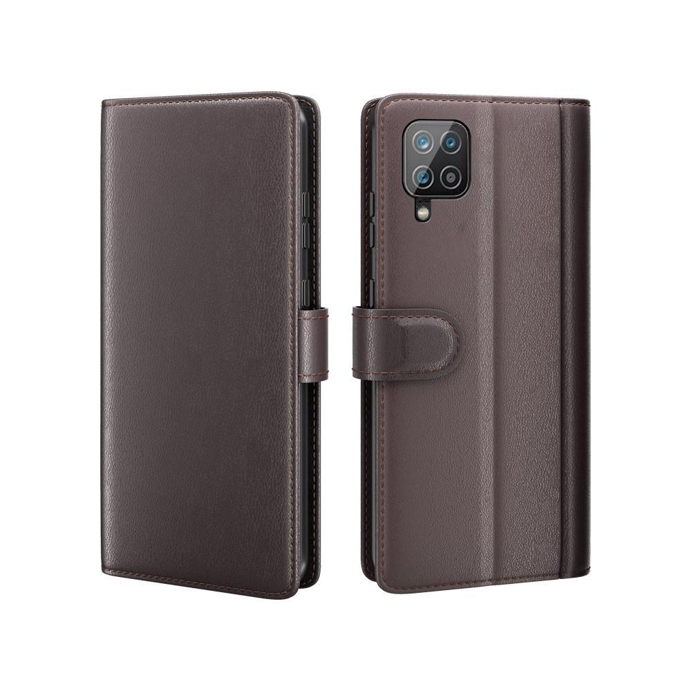 Aito Nahkakotelo Samsung Galaxy A12 ruskea