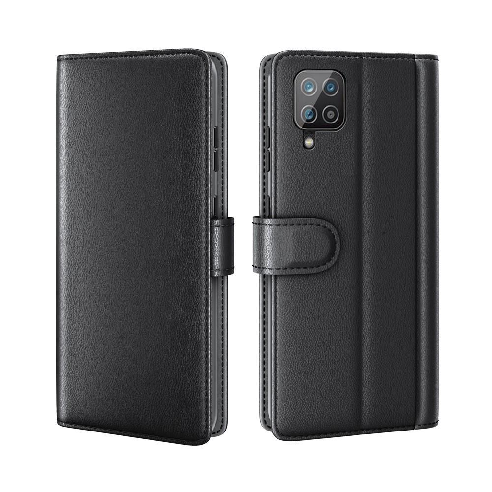 Aito Nahkakotelo Samsung Galaxy A12 musta