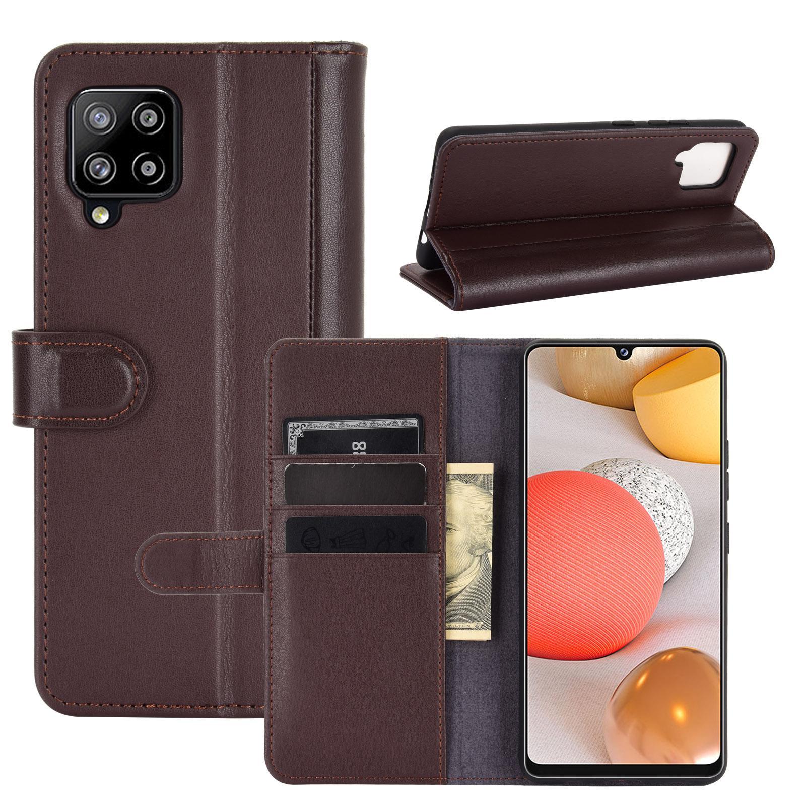 Aito Nahkakotelo Samsung Galaxy A42 5G ruskea